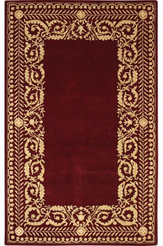 """napoli Wool Area Rug - 2'6""""x4'6"""", Burgundy"""