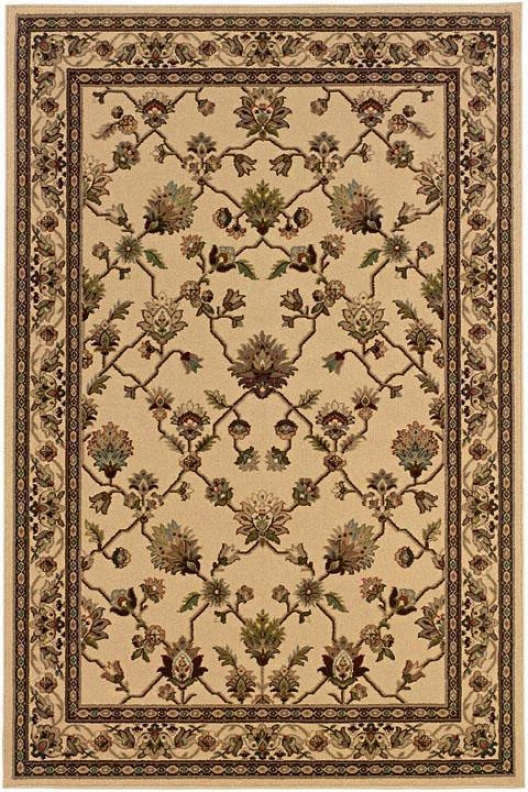 Nexus Brilliance Area Rug - 8'round, Ivory