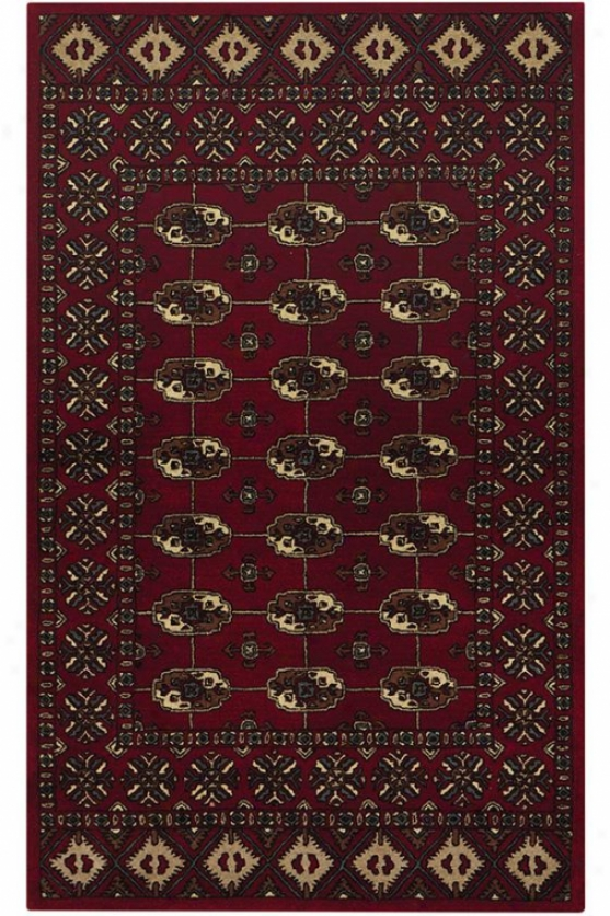 Nomad Area Rug - 6 Round, Red