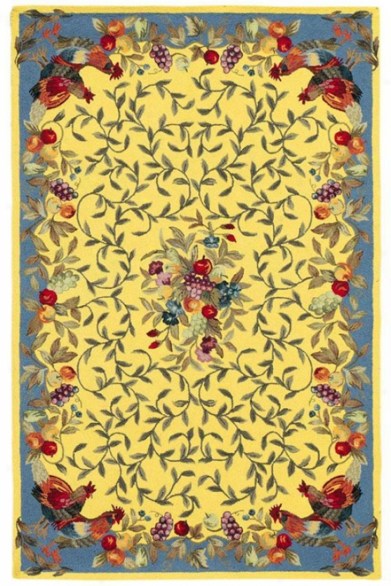 Nourison Rooster Garden Area Riv - 8'x11', Yellow