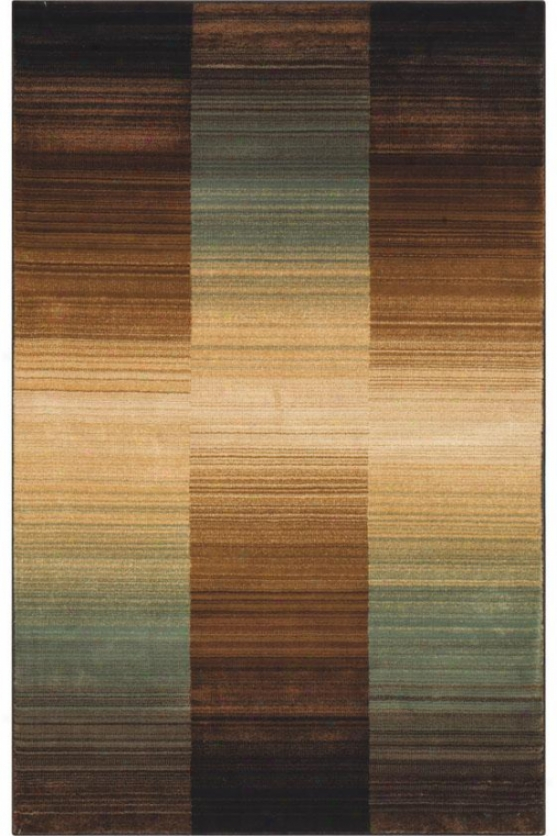 """ombre Area Rug - 3'2""""x5"""", Green"""