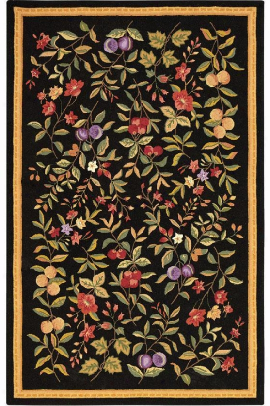 Orchard Area Rug - 4' Rounr, Black