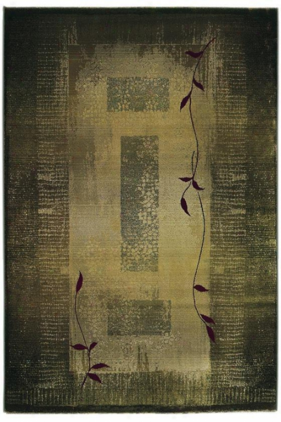 """oriejtal Weavers Mantra Area Rug - 5'3""""x7'6"""""", Green"""