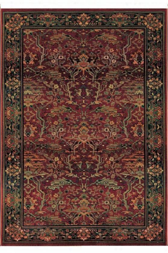 """oriental Weavres Peace Area Rug - 2'6""""x9'1""""runner, Brick Red"""