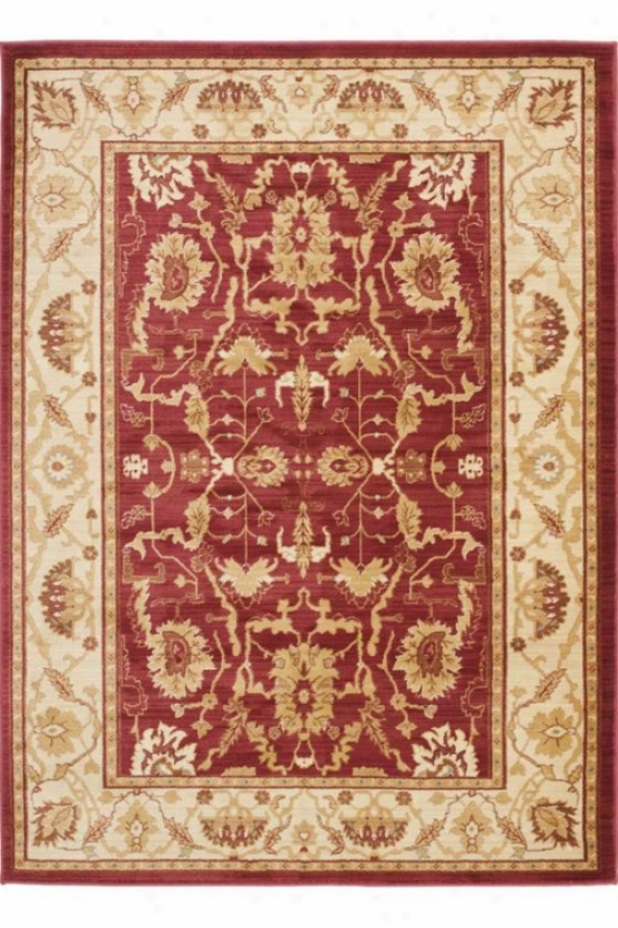 """oxford Area Rug - 2'6""""x4', Red"""