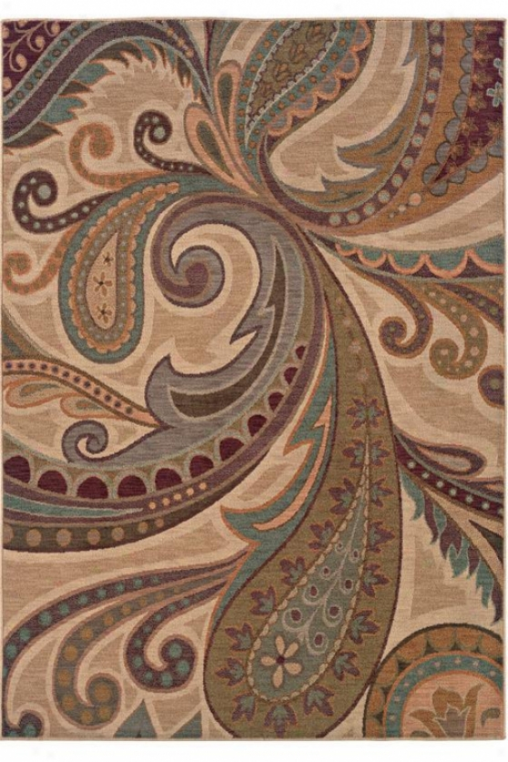 """perfection Area Rug - 6'7""""x9'6"""", Ivory """