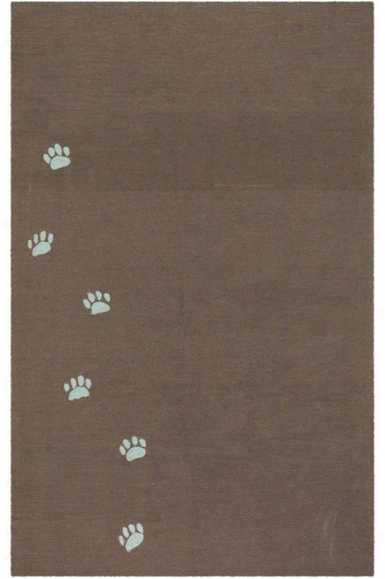 """pero Area Rug - 7'6""""x9'6"""", Brown"""