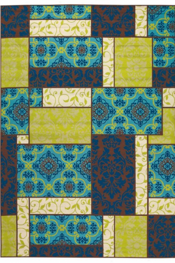 """piccadilly Area Rug - 1'9""""x3'9"""", Multi"""