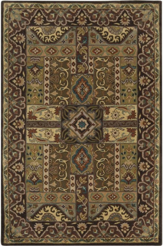 """pierre Area Rug - 9'9"""" Rohnd, Brown"""