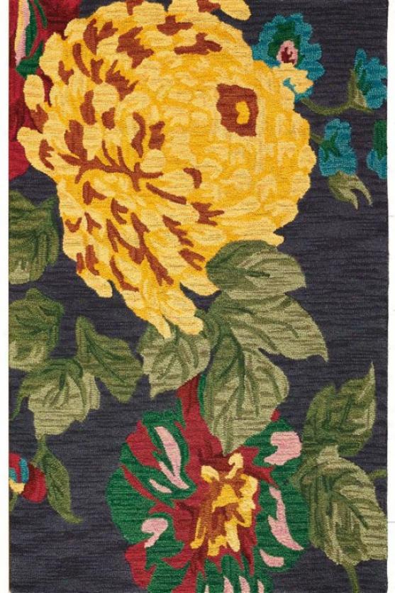 Pompom Area Wool Rug