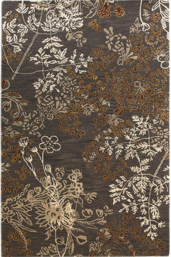 Priscilla Area Rug - 4'x6', Charcoal Gray-haired
