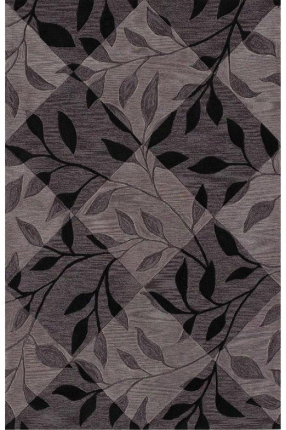 """Side face Area Rug Ii - 3'6""""x5'6"""", Black"""