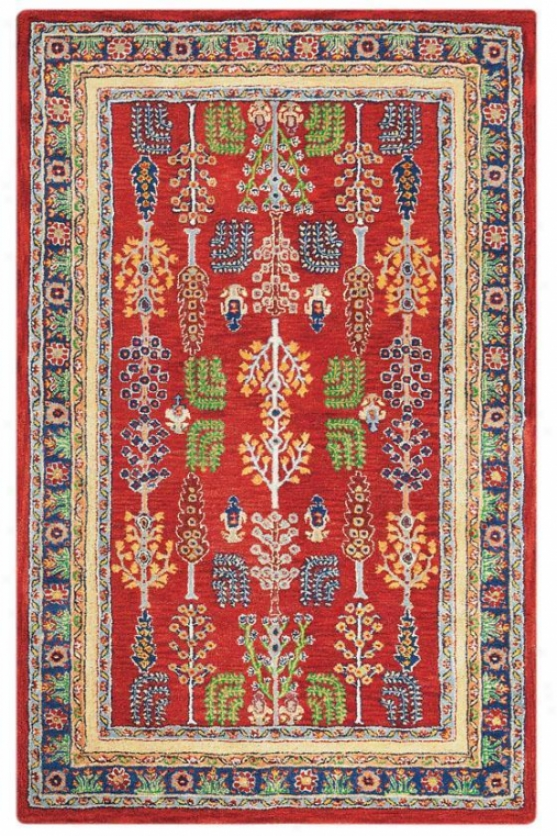 """regency I Area Rug - 2'6""""x8'runner, Red"""