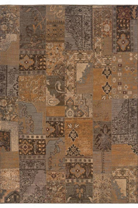 """restore Area Rug - 5'3""""x7'6"""", Brown"""