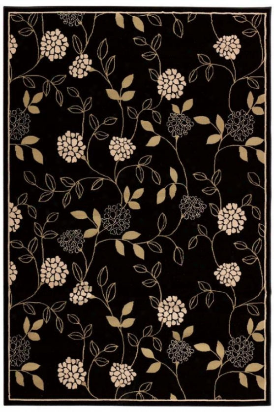 """rosella Area Rug - 2'3""""x7'9""""runner, Black"""