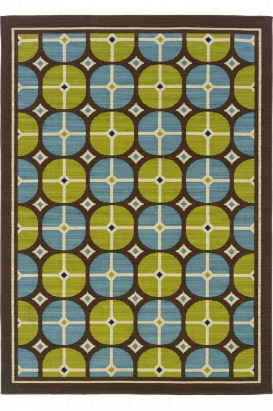 """sand Dollar Area Rug - 5'3""""x7'6"""", Green"""