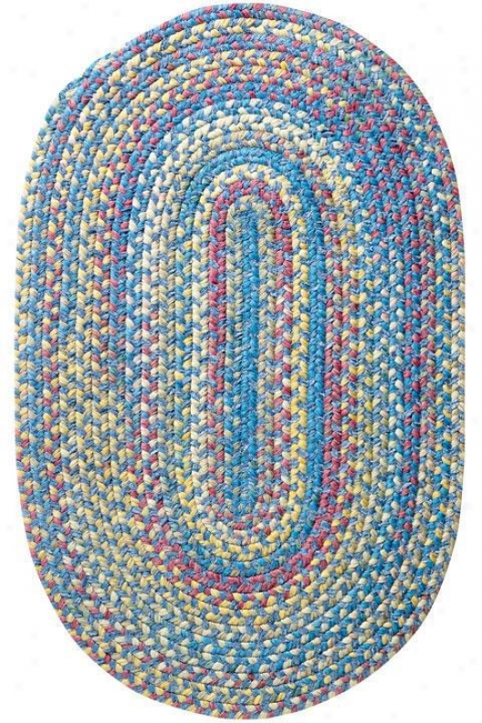 Seabrooke Chenille Area Rug - 5' Round, Blue