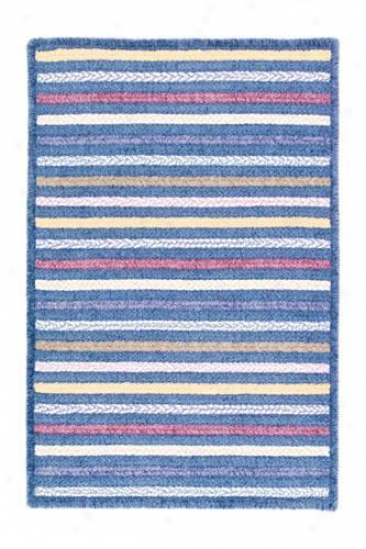Seascape Rectangular Braided Area Rug - 4'x6', Azure