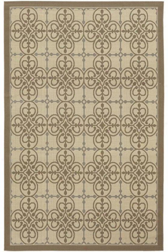 """sedona Area Rug - 2'x3'7"""", Cream-blue"""