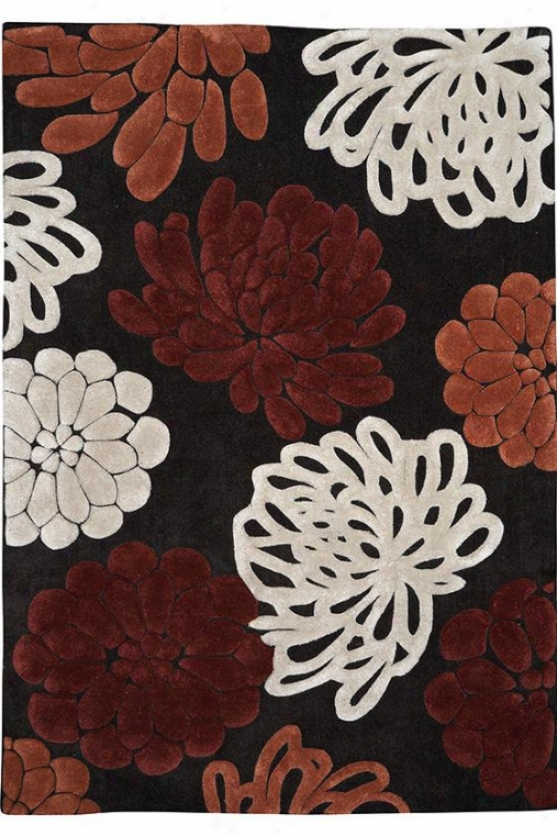 """sherrie Area Rug - 1'10""""x2'10"""", Chocolate Brown"""