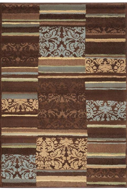 """solace Area Rug - 2'6""""x9'1""""runner, Brown"""