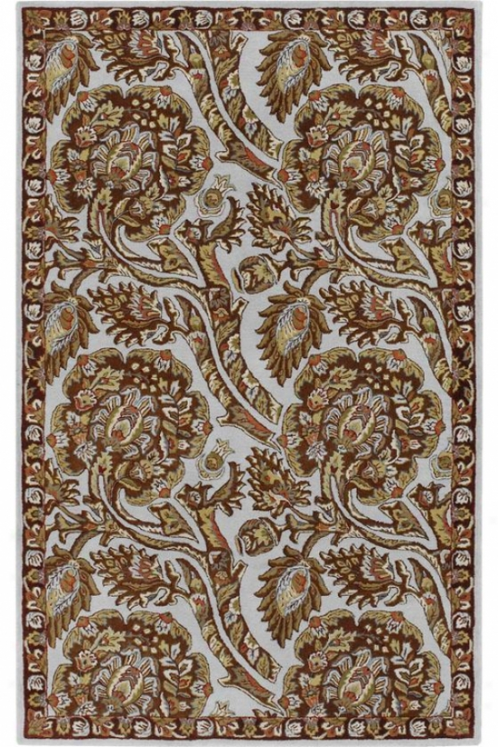 Spectacle Ii Area Rug - 8' Round, Rust/light Blue