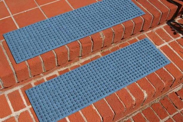 """""""squares Doormat - 8'5""""""""x30""""""""stairtr, Cornflower Blue"""""""