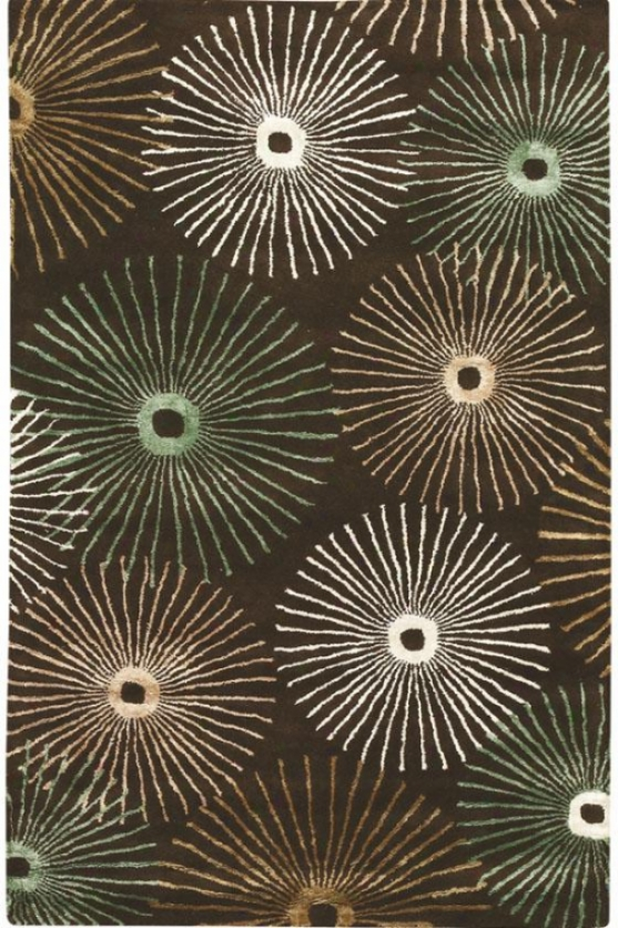 """starburst Superficial contents Rug Ii - 9'6""""x13'6"""", Chocolate Brown"""