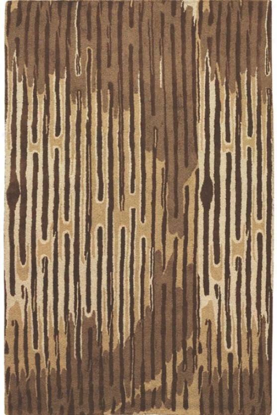 """stillwood  Area Rug - 7'9"""" Round, Brown"""