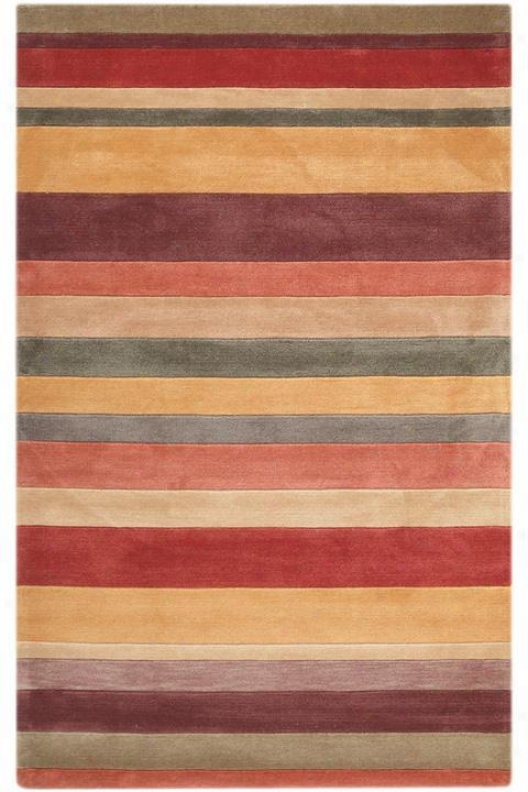 """stipes I Area Rug - 7'6""""x9'6"""", Pumpkin"""