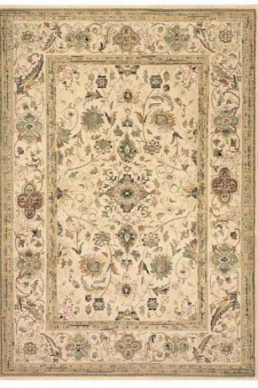 """sultanabad Area Rug - 2'7""""x4'7"""" Oval, Ivory"""