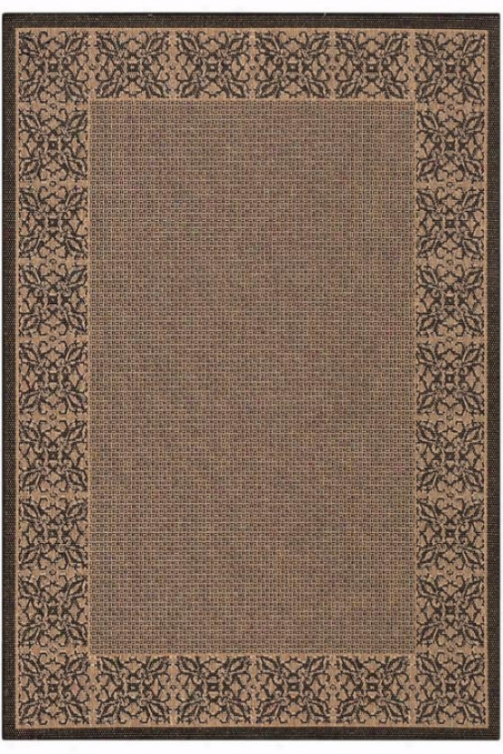 """summer Chimes Rug - 8'6"""" Round, Chocolate Brown"""