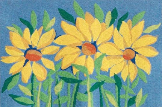 """sunflowers Floor Mat - 20""""x30"""", Yellow"""