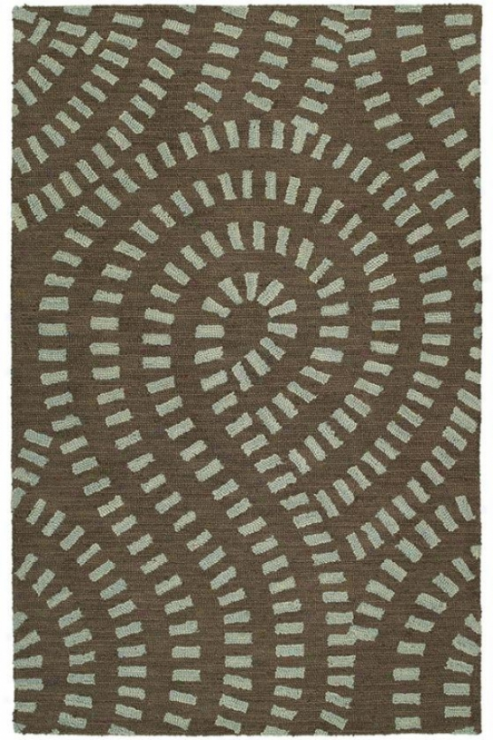 Swirls Area Rug - 9'x12', Spa