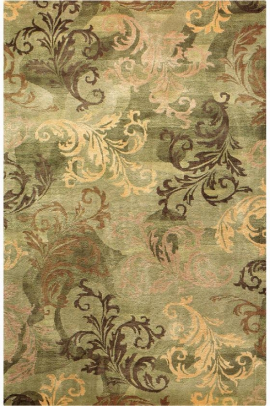 """symphony Iii Area Rug - 7'9"""" Round, Sage/green"""