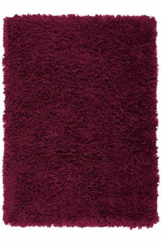 Syntheitc Shag Area Rug - 9'x12', Burgundy
