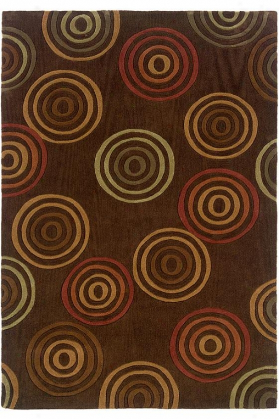 Timeless Aeea Rug - 8'x10', Chocolate Brown