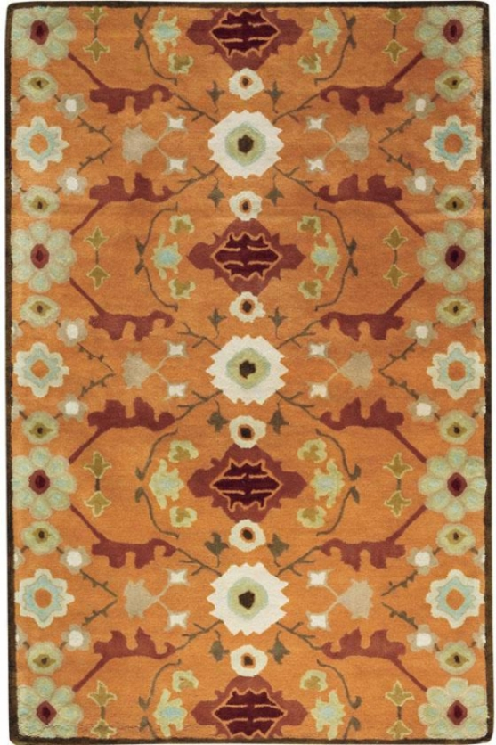 Tourzine Area Rug Ii - 8'x11', Pumpkin/tobacco