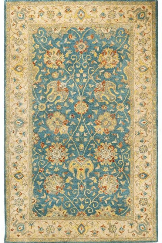 """traditions I Area Rug - 7'6""""x9'6"""" Oval, Blue"""