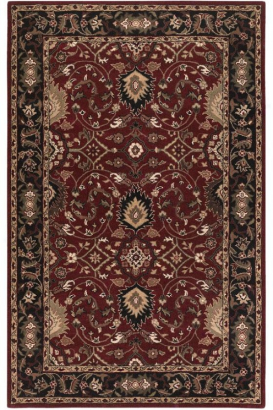 Valencia Area Rug - 4'x6', Red