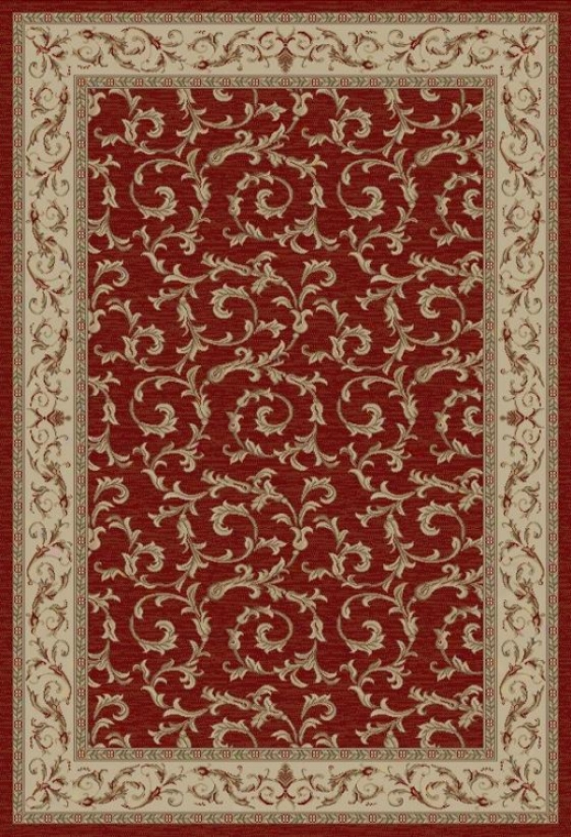 """veronica Area Rug - 2'7""""x4'1"""", Red"""
