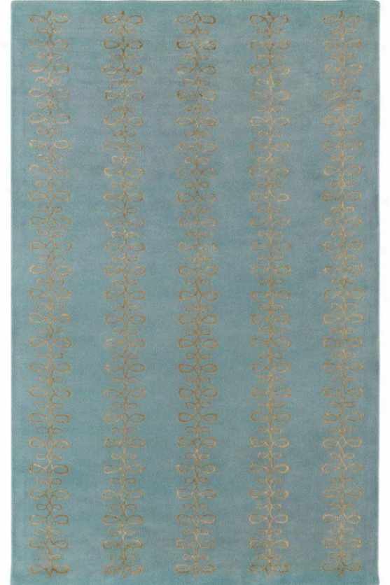 """visions Ii Area Rug - 2'6""""x8' Runner, Sky/silver"""