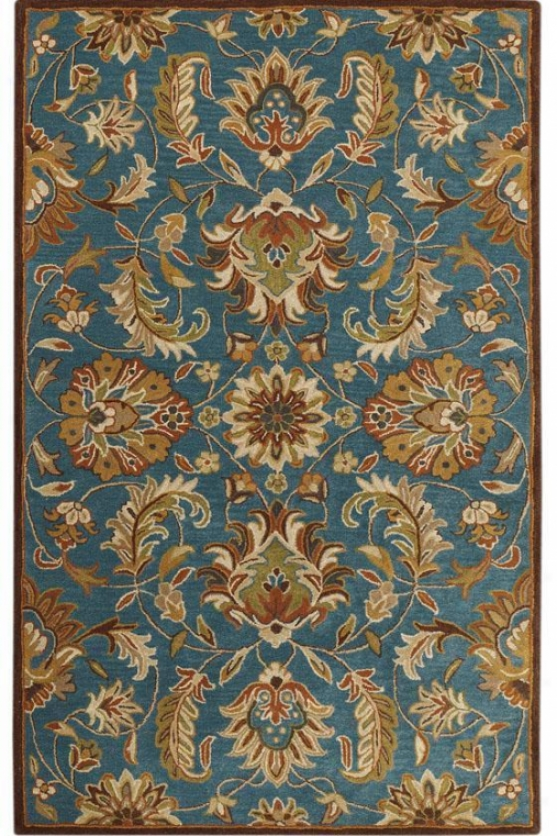 Vogue Rug I - 6'x9', Teal Blue
