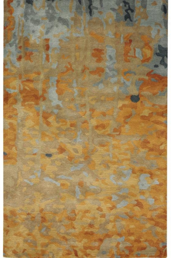 Watercolor Area Rug - 8'x11', Gold
