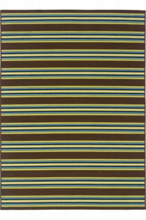 """waves Area Rug - 5'3""""x7'6"""", Green"""