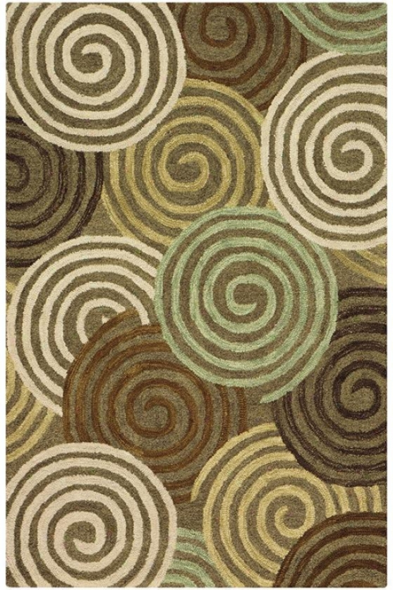 """wheel Area Rug - 2'6""""x8' Runner, Brown"""
