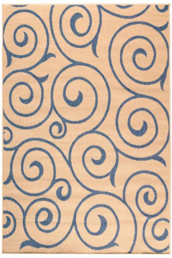 """whirl All-weather Rug - 2'3""""x11'9""""runnr, Blue"""