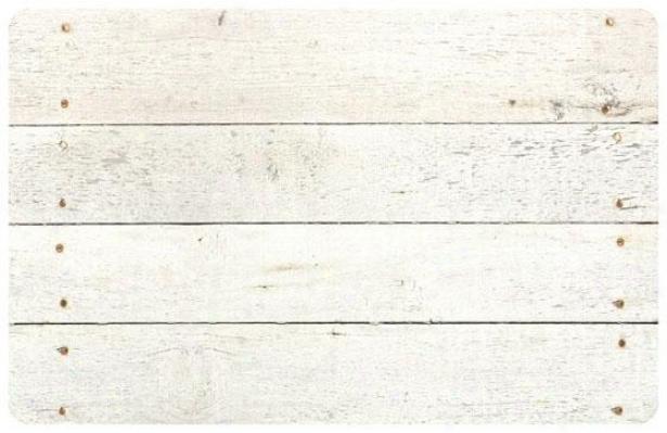 Whitewash Floor Interweave - 2'x3', White