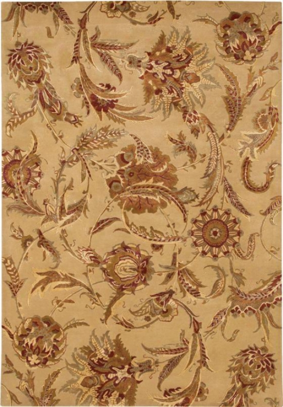"""wild Orchids Area Rug - 3'6""""x5'6"""", Ivory"""