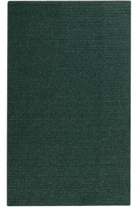 Wilshire Rectangular Braid Texture Area Rug - 3'octagon Fring, Forest Green